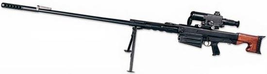 Крупнокалиберная снайперская винтовка ОСВ-96 на сошках