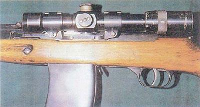 Крепление прицела ПЕ на АВС-36