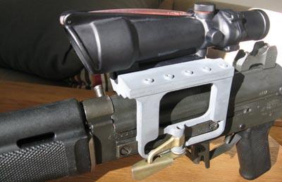 Rk 95 TP вид на скобу и кронштейн с оптическим прицело