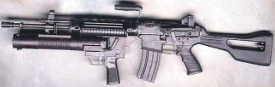 Штурмовая винтовка SR-88A с установленным 40-мм подствольным гранатометом CIS-40GL