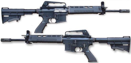 Штурмовая винтовка T91 / Type 91 с установленной ручкой для переноски магазин отсоединен