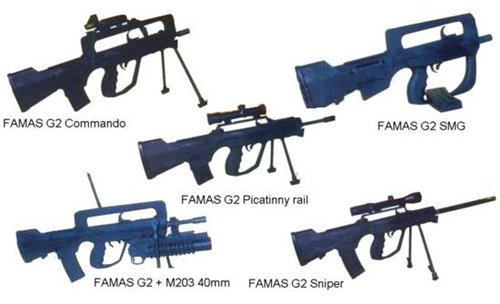 Модификации FAMAS G2