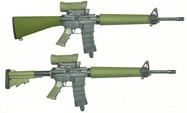 Штурмовые винтовки Diemaco C7A1/C7A2