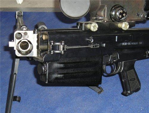 ОСВ-96, ствол частично сложен.