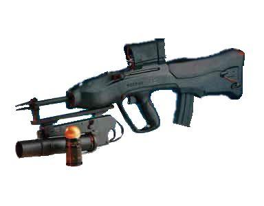 CR-21 с установленным 40мм гранатометом фирмы Vektor