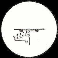 Вид прицельной сетки прицела ПСО-1