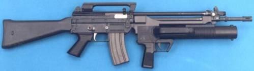 AR-70/90 с установленным подствольным гранатометом