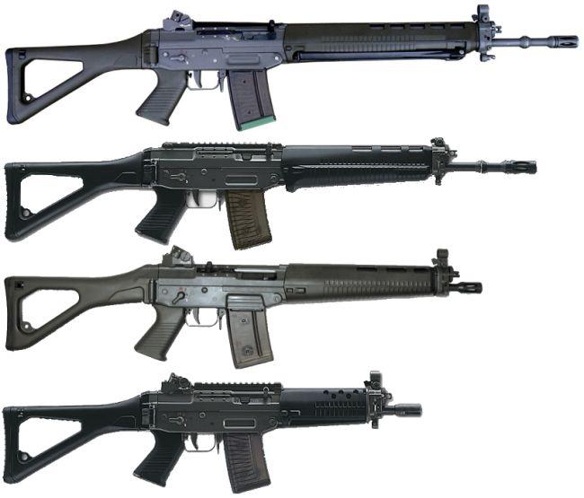 SIG 55x, SIG SG 550 / Stgw.90, SIG SG 551-LB SWAT, SIG SG 551 / SIG SG 552 SWAT