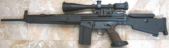 Снайперская винтовка HK SR9T с магазином на 20 патронов