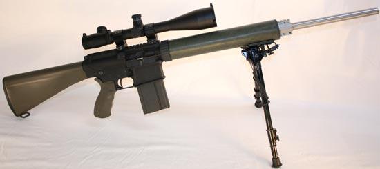 Armalite AR-10(T) на сошках