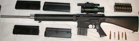 Armalite AR-10(T) сошки не установлены