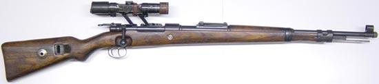 Снайперская винтовка Zf. Kar. 98k с оптическим прицелом Zielfernrohr 4 (ZF.4)