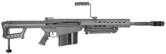 Barrett M107CQ с укороченным стволом