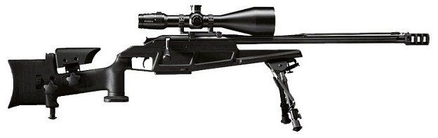 Снайперская винтовка Blaser Tactical-2 на сошках