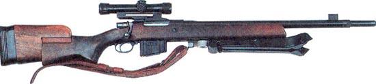 Снайперская винтовка FN 30-11 с ремнем и обратным креплением сошек
