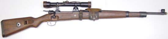 Снайперская винтовка Zf. Kar. 98k с оптическим прицелом Zielfernrohr 39 (ZF.39)