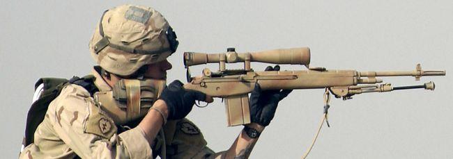 Солдат армии США с винтовкой М21 в Ираке (2006 год)