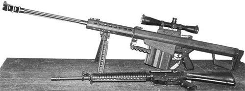 M82A1 в сравнении со штурмовой винтовкой М16А2