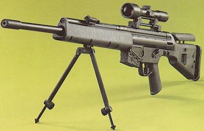 Снайперская винтовка MSG-90 на сошках