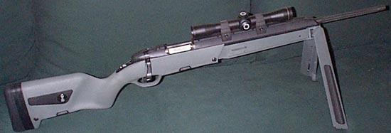 Снайперская винтовка Steyr Scout на сошках