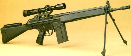 Снайперская винтовка G3 SG1 на сошках