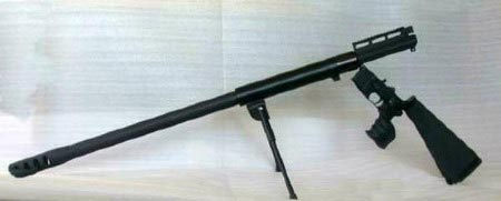 Крупнокалиберная снайперская винтовка AR-15 .50 BMG с открытым затвором