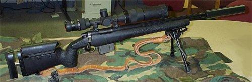 Снайперская винтовка Robar SR-90 с установленным глушителем
