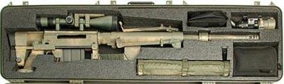 Снайперская винтовка CheyTac Intervention M-200 в кейсе для транспортировки
