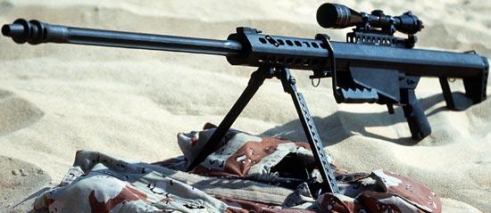 Barrett M82A1 ранний вариант с цилиндрическим дульным тормозо