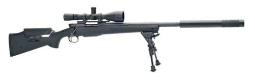 Снайперская винтовка FN SPR A5 с установленным глушителем