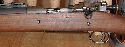 Вид на ствольную коробку винтовки M1903 Mark 1