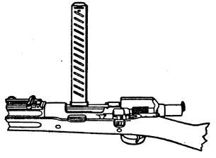 Рисунок винтовки M1903 Mark 1 с установленным устройством Педерсена
